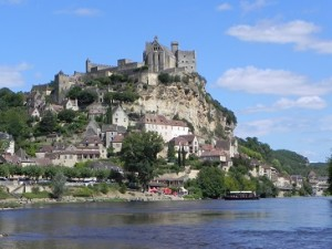 View from a canoe on the Dordogne